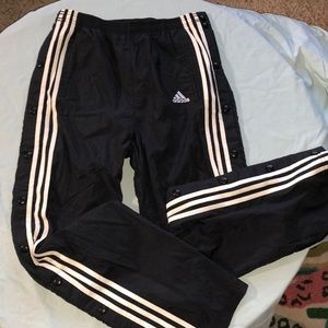 Vintage Y2K adidas button down track pants